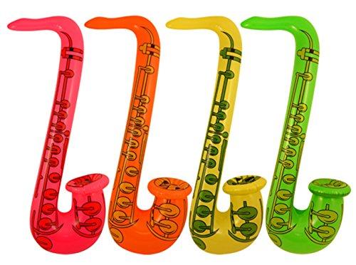 Saxofón hinchable, diseño de 4x 75cm