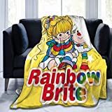Jasongamo Rainbow Brite Ultra-Soft Micro Fleece Blanket Couch for Adults Or Kids 60' X50