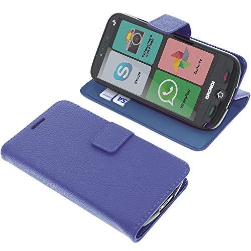 foto-kontor Custodia a Libro per Brondi Amico Smartphone 4G di Colore Blu/Azzurro (esclusivamente...