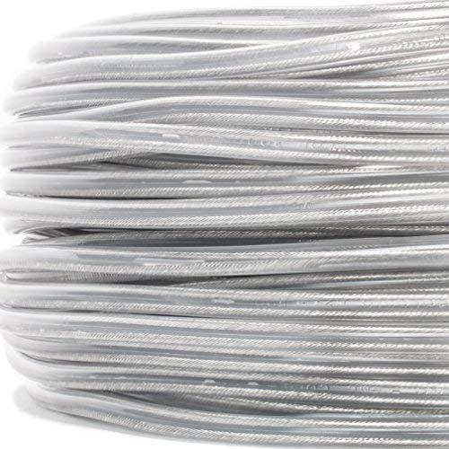 PVC/PVC Rundkabel, Schlauchleitung transparent, 2x0,75mm² - Made in EU - 10 Meter