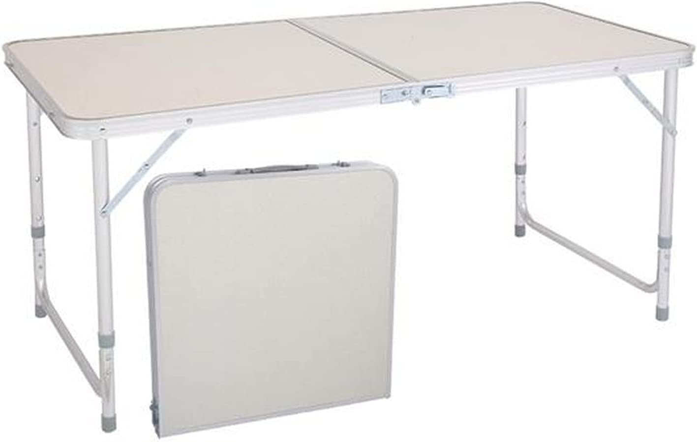 4Ft Aluminum Folding Picnic Height Adjustable Direct store Popularity Lightweight Table