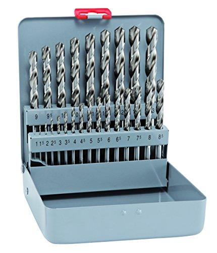 Bohrer / Spiralbohrer Set HSS Cobalt KM 25, 25-teilig | kobaltlegierte Spiralbohrer mit sehr hoher thermischer Belastbarkeit, selbstzentrierend, punktgenau, bruchsicher | Ø 1 -13 mm, je 0,5 mm stg.
