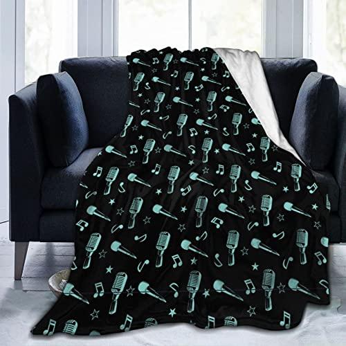 LKTBJEMFY Manta de franela con diseño de dibujos animados, suave, ligera, cálida para todas las estaciones para cama, sofá, sofá de 80 x 60 pulgadas