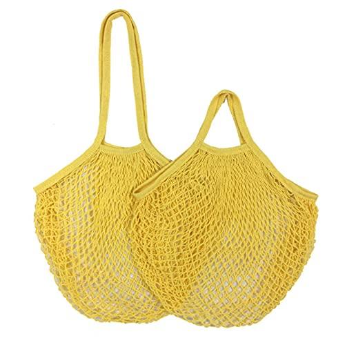 20 Farben Wiederverwendbare Einkaufstaschen Tragbare Netztasche Obstgemüsespeicher Umweltfreundliche faltbare Baumwolltasche zum Einkaufen