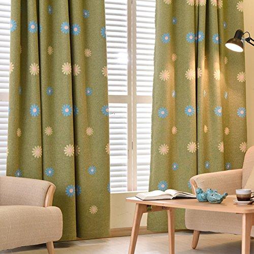 XGXQBS Gordijnen voor vitrine oogschaduw-gordijnen, geborduurde gordijnen voor kinderkamer, woonkamer, decoratie, 1 stuk 250x270cm(98x106inch) Groen