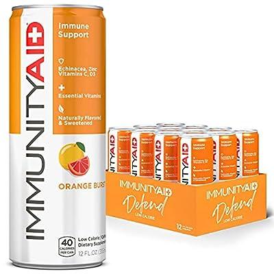 LIFEAID IMMUNITYAID Support Blend, Echinacea, Zinc, Astragalus and Vitamin C, IMMUNITY AID, 144 Fl Oz (Pack of 12) from LifeAID Beverage Co.