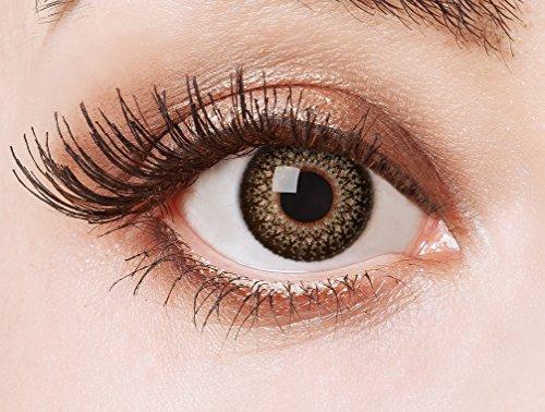 aricona Kontaktlinsen - Braune Kontaktlinsen ohne Stärke - Cosplay, Manga, Anime oder Steampunk Kontaktlinsen mit Ornament-Optik, 2 Stück