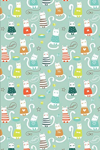 Cat Pattern - Cats in Sweater: Blank Lined Notebook for Cat Lovers and Pet Owners
