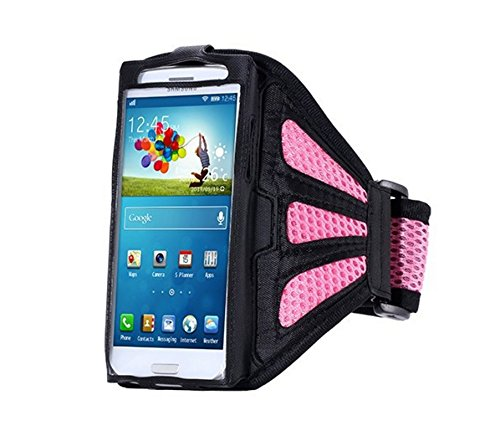 Grandey Waterproof Sport Arm Band Case for Samsung Galaxy S3 S4 S5 S6/ Edge Arm Phone Bag Running Accessories Band Gym Pounch Belt Cover (Pink)