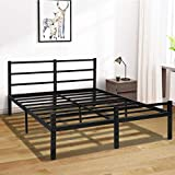 Full Bed Frame with Headboard, 14 Inch Platform Bed Frame No Box Spring Needed, Metal Full Size Bed Frame with Storage , Heavy Duty Steel Slat and Anti-Slip Support, Easy Quick Lock Assembly - Full