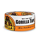 Gorilla White Duct Tape, 1.88' x 10 yd, White, (Pack of 1)