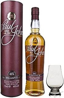 Set vom Schnapsbaron Paul John Brilliance Indian Single Malt Whisky in Tube 46% 0,7 l incl. Glencairnglas