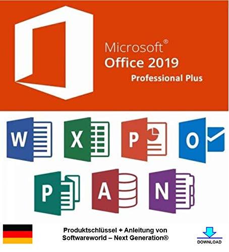 Office Professional Plus 2019 32/64 bit Produktschlüssel inkl. Anleitung von Softwareworld – Next Generation®