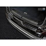 Avisa Protection de seuil arrière inox noir compatible avec BMW 2-Serie F46 Gran Tourer 2015- 'Ribs'