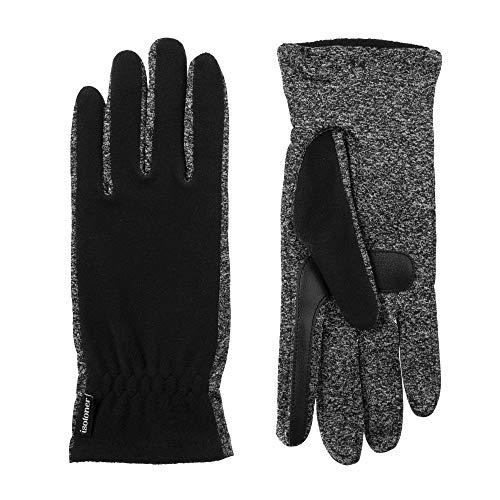 Isotoner Damen Cold Weather Spandex and Fleece Gloves Handschuhe für kaltes Wetter, schwarz, Einheitsgröße