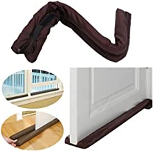 Divinezon Twin Door Draft Guard. Stop Unwanted Light And Stop Escaping Of Cool Air From Air Conditioner Split Or Window