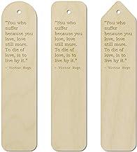 3 x Love Quote by Victor Hugo Birch Bookmarks (BK00002931)