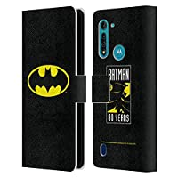 Head Case Designs オフィシャル ライセンス商品 Batman DC Comics クラシック ロゴ Motorola Moto G8 Power Lite 専用レザーブックウォレット カバーケース