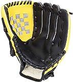 Acidea 野球 グローブ 軟式 一般 オールラウド 内野手 右投げ キャッチボール 子供 少年 大人用 10.5 11.5 12.5 インチ 衝撃吸収パッド 内蔵 初心者 (12.5 インチ, 黄色い)
