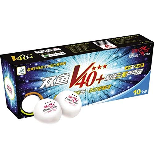 Double Fish Table Tennis (Ping Pong) Balls (V40+ 1 Star)