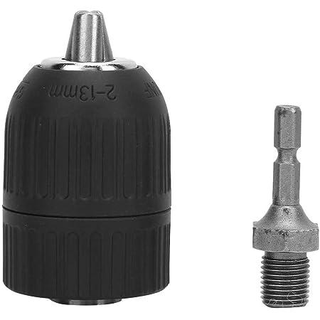 Bestgle Mandrino senza chiavi Mandrino 2-13 mm per trapano SDS a chiusura rapida con adattatore SDS Tutto il metallo mandrino smontabile senza chiave