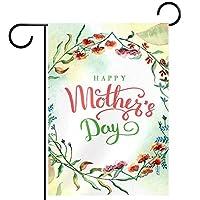 ガーデンフラッグ縦型両面 12x18inch 庭の屋外装飾.母の日おめでとう