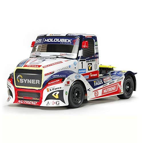 TAMIYA 58661 58661-1:14 RC Buggyra Fat Fox RaceTruck TT-01E, ferngesteuertes Auto/Fahrzeug, Modellbau, Bausatz, Renntruck, Hobby, Zusammenbauen, weiß