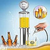 Yunjie Torre de Cerveza con Grifo Dispensador de Bebidas Columna de Cerveza para Fiesta Cena Festival Boda, Plateado
