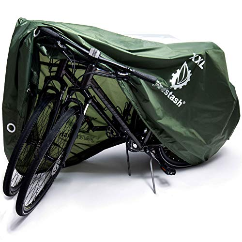 Yardstash bicycle covers for bike racks