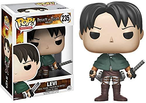 fgbv 10CM Attack On Titan Pop Capitán Levier Q Versión Muñeca Modelo de Personaje de Anime Figura de acción en Caja Juguete de Dibujos Animados Estatua de Anime Colección de decoración de Personajes