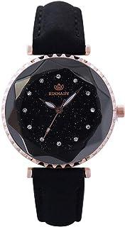 PULABO - Pulabo - Reloj de pulsera de cuarzo para mujer, diseño de diamantes de imitación de cristal, diseño de brillantes