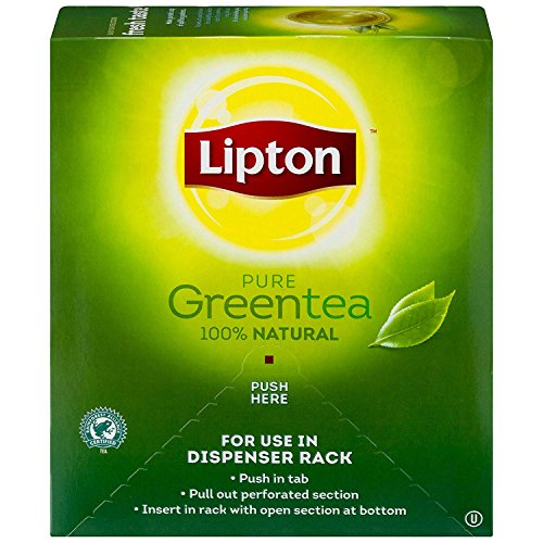 Lipton Green Tea 100% Natural 100 Tea Bags Net WT 7.0oz by