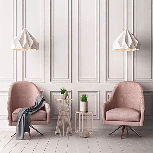 VGFGI Wandtapete Moderne 3D quadratische Fotorahmen Fototapete Wohnzimmer Sofa Hintergrund Wandkunst Dekoration-360cm(W) x280cm(H)