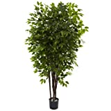 Nearly Natural 5402 6.5ft. Deluxe Ficus Tree