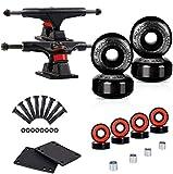 LOSENKA Skateboard Wheels Set,Include Skateboard Trucks, Skateboard Wheels 52mm, Skateboard Bearings, Skateboard Pads, Skateboard Hardware 1'