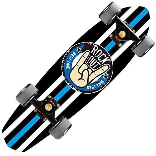 Love your life Komplette Mini-Skateboard 27inch / 23-Zoll-Liebe Sie Geste Muster Skateboard