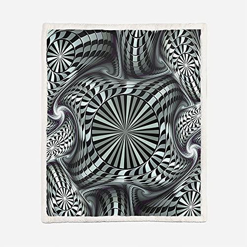 Manta acogedora Arte 3D Manta de 150x200 cm Manta de Lana Extra Suave y cálida Manta de sofá / Manta de sofá Manta mullida Colcha de Microfibra Colcha