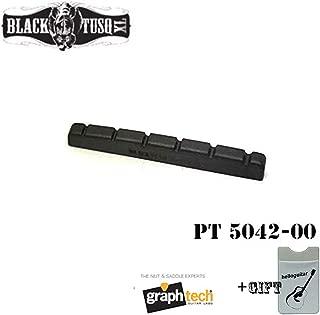 Graph Tech PT-5042-00 TUSQ Nut XL 42mm Pre-Slotted Flat Bottom Guitar Nut for Fender Strat Electric guitar Black