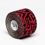 Tape de Sixtus Italia–Dream K Tribe 5cm x 5m–Color Rojo Y Negro–El Deporte Tape con efecto Kinesio–más rápido y cómodo Tape Vendaje