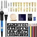 62Pcs Wood Burning Kit for Beginners, Adjustable Professional Wood Burner Pen Tool and Accessories, woodburning Embossing Carving