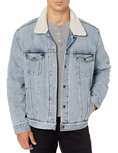 Levis Sherpa Jacket Mens Relaxed Fit