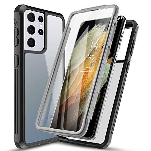 AICase Cover per Samsung S21 Ultra TPU Bumper Rugged Trasparente Antiurto Case per Samsung Galaxy S21 Ultra Custodia Protettiva Rigida con Protezione per Lo Schermo Integrata