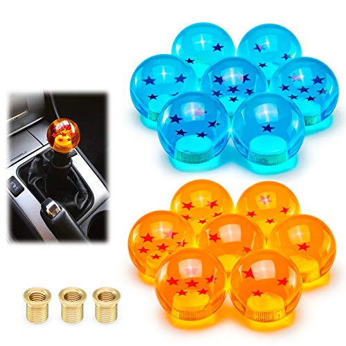 EZAUTOWRAP Universal Orange Dragon Ball Z 1 Star 54mm Shift Knob with Adapters Will Fit Most Cars