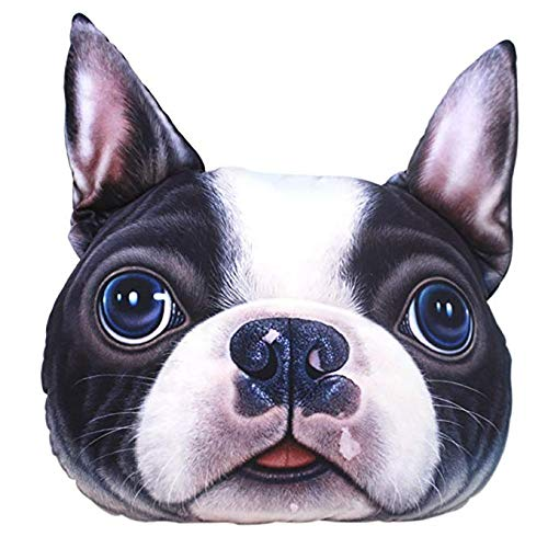 Di lusso 3D Cartoon Pillow Dog Head Personality Realistic Pillows Plush Pet Toys Office Home Cushion Thanksgiving