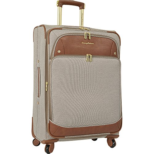 Tommy Bahama Lightweight Spinner Luggage - Expandable Suitcases for Men and Travel with Rolling Wheels, Brown