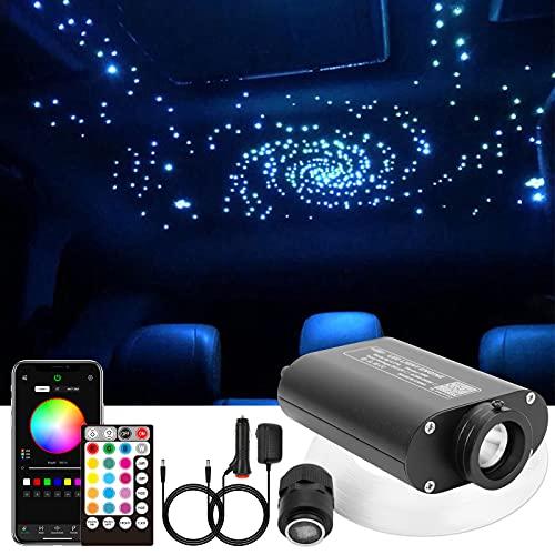CHINLY Bluetooth 16W RGBW LED Fibra óptica Estrella Kit de luces de techo APLICACIÓN / Control remoto 260pcs * 0,75mm * 2m Fibra óptica para el hogar / automóvil