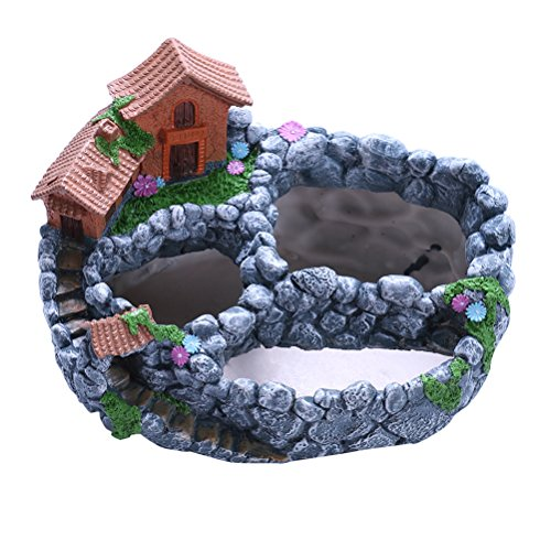 OUNONA Fairy Garden House ¨¹bertopf Miniatur-Garten-Mini, f¨¹r Succulents Kaktus Pflanzen Blumen