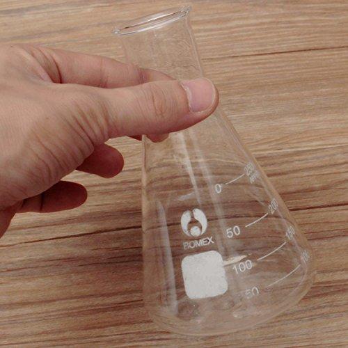 DIY 250 ml Graduado estrecha boca cristal erlenmeyer petaca cónica 29 / 40 juntas de tierra