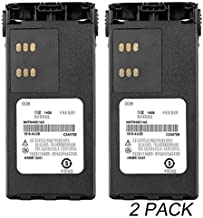 (2-Pack) 7.4V 2100mAh Ni-MH Battery HNN9013 Compatible for Motorola Radio HT750 HT1225 HT1250 HT1550 PR860 PRO5150 PRO7150 MTX850 MTX950 MTX8250 MTX9250 GP140 GP320 GP328 GP338 GP640 CP185 +Belt Clip