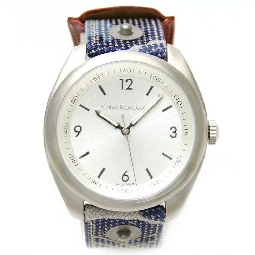 Calvin Klein K5811188 - Reloj de Mujer de Cuarzo, Correa de Piel Color Azul Claro